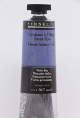 France Sennelier, Fine Artists' Oil Paint, Dioxazine Violet, 917, 40ml Tube, Series 4