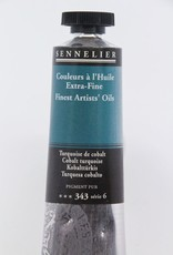 France Sennelier, Fine Artists' Oil Paint, Cobalt Turquoise, 343, 40ml Tube, Series 6