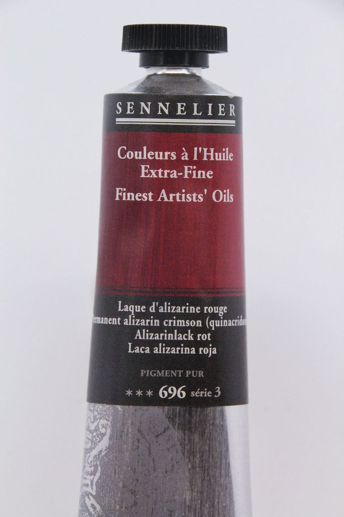 France Sennelier, Fine Artists' Oil Paint, Permanent Alizarin Crimson, 696, 40ml Tube, Series 3