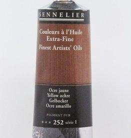 France Sennelier, Fine Artists' Oil Paint, Yellow Ochre, 252, 40ml Tube, Series 1