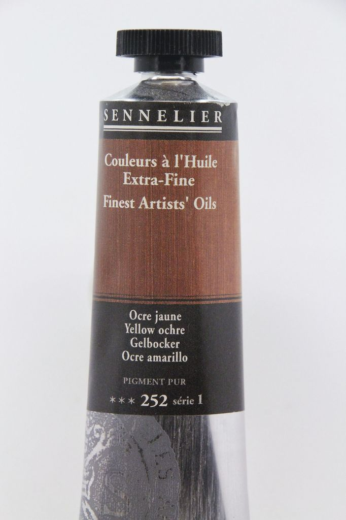 France Sennelier, Fine Artists' Oil Paint, Yellow Ochre, 252, 40ml Tube, Series 1