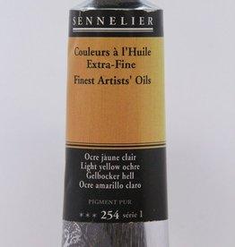 France Sennelier, Fine Artists' Oil Paint, Light Yellow Ochre, 254, 40ml Tube, Series 1