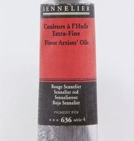 France Sennelier, Fine Artists' Oil Paint, Sennelier Red, 636, 40ml Tube, Series 4