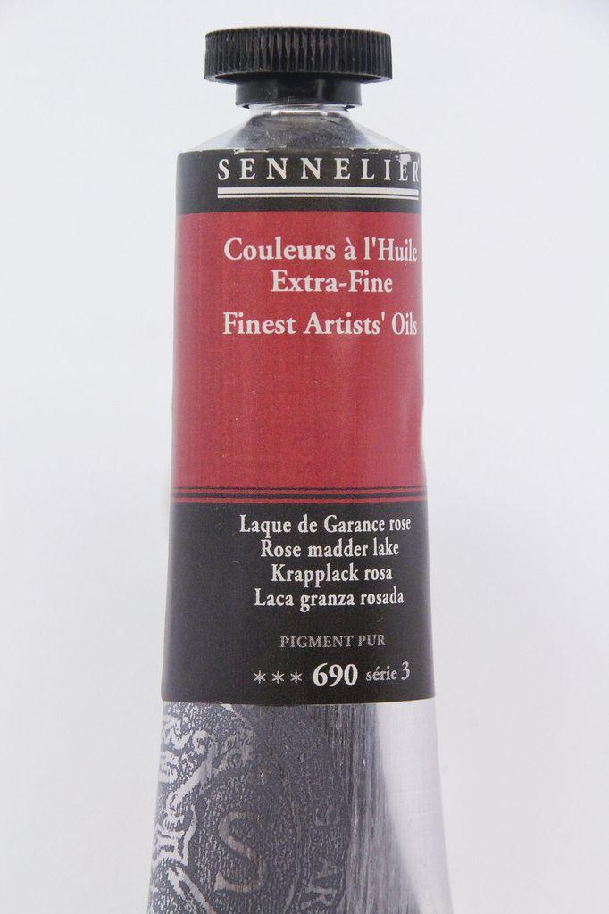 France Sennelier, Fine Artists' Oil Paint, Rose Madder Lake, 690, 40ml Tube, Series 3