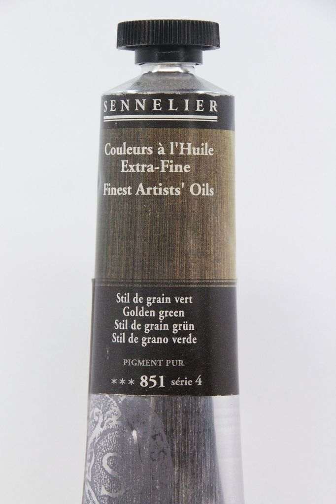 France Sennelier, Fine Artists' Oil Paint, Golden Green, 851, 40ml Tube, Series 4