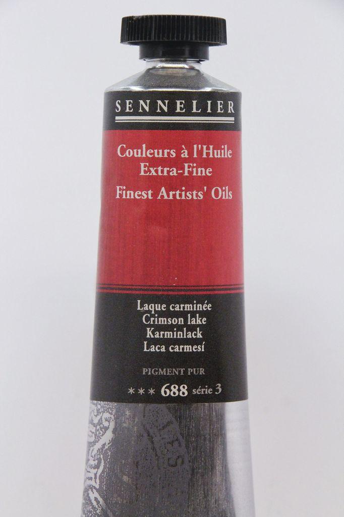 France Sennelier, Fine Artists' Oil Paint, Crimson Lake, 688, 40ml Tube, Series 3