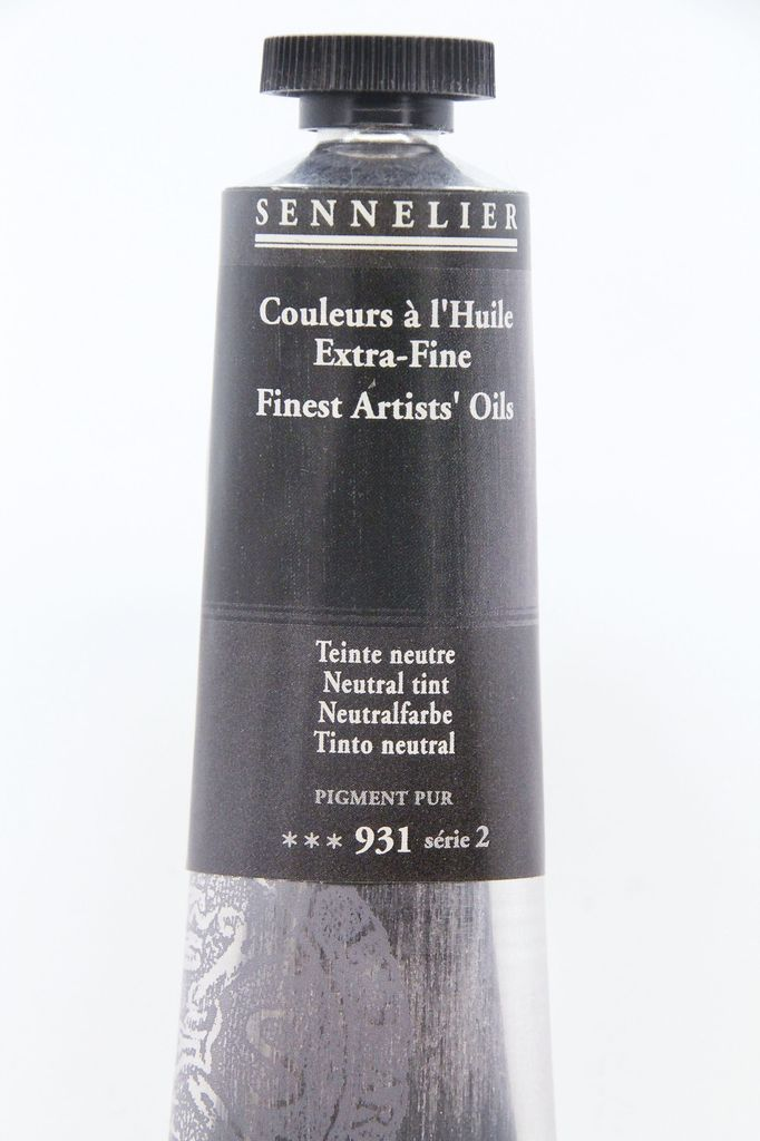 France Sennelier, Fine Artists' Oil Paint, Neutral Tint, 931, 40ml Tube, Series 2