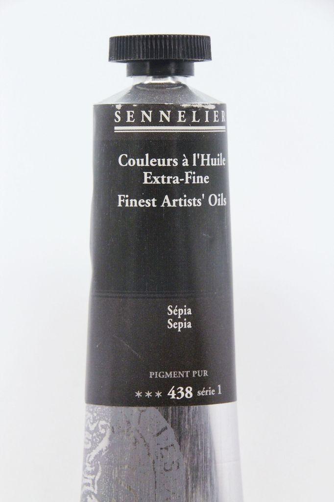 France Sennelier, Fine Artists' Oil Paint, Sepia, 438, 40ml Tube, Series 1