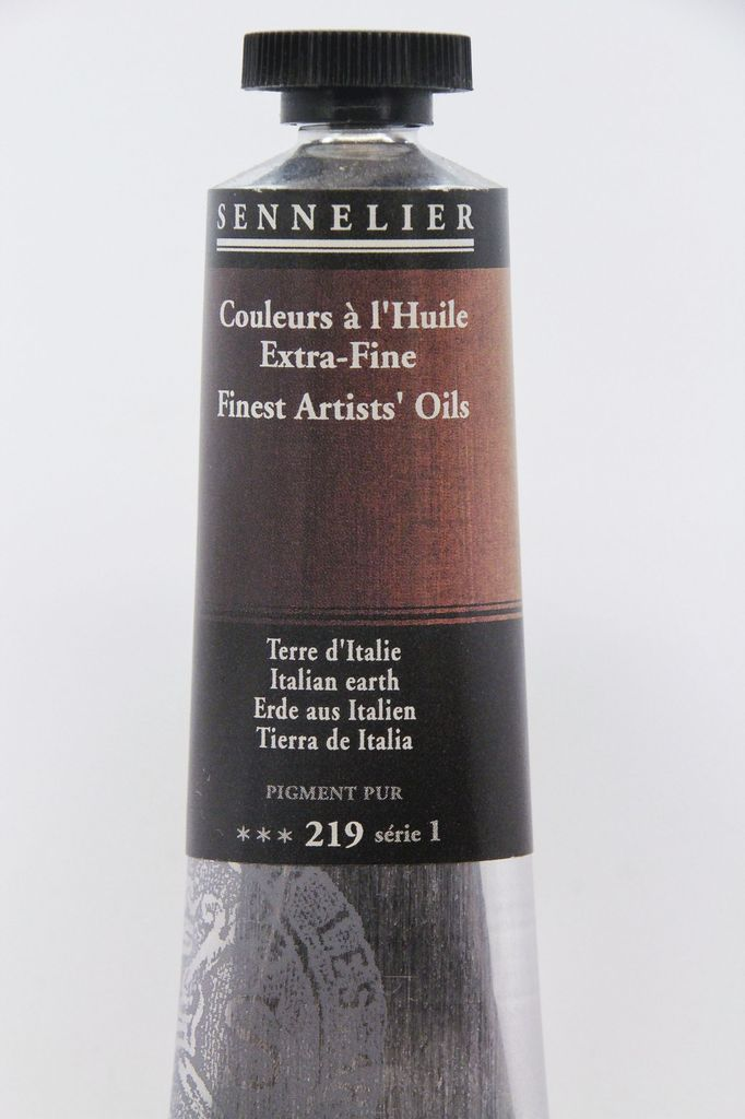 France Sennelier, Fine Artists' Oil Paint, Italian Earth, 219, 40ml Tube, Series 1