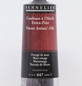 France Sennelier, Fine Artists' Oil Paint, Mars Orange, 647, 40ml Tube, Series 2