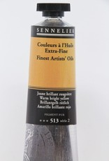 France Sennelier, Fine Artists' Oil Paint, Warm Bright Yellow, 513, 40ml Tube, Series 2
