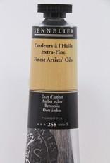 France Sennelier, Fine Artists' Oil Paint, Amber Ochre, 258, 40ml Tube, Series 5
