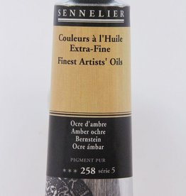 France Sennelier, Fine Artists' Oil Paint, Amber Ochre, 258, 40ml Tube, Series 5