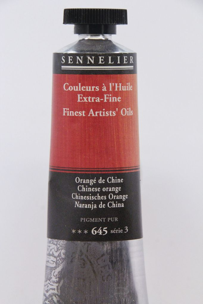 France Sennelier Fine Artists Oil Paint Chinese Orange 645 40ml Series 3 Dolphin Papers