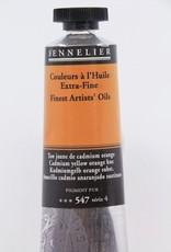 France Sennelier, Fine Artists' Oil Paint, Cadmium Yellow Orange Hue, 547, 40ml Tube, Series 4