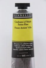 France Sennelier, Fine Artists' Oil Paint, Cadmium Yellow Lemon Hue, 545, 40ml Tube, Series 4