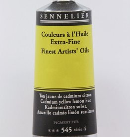 France Sennelier, Fine Artists' Oil Paint, Cadmium Yellow Lemon Hue, 545, 40ml Tube, Series 4
