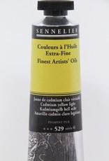 France Sennelier, Fine Artists' Oil Paint, Cadmium Yellow Light, 529, 40ml Tube, Series 6