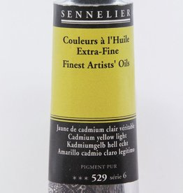 France Sennelier, Fine Artists' Oil Paint, Cadmium Yellow Light, 529, 40ml Tube, Series 6