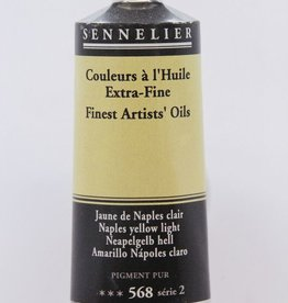 France Sennelier, Fine Artists' Oil Paint, Naples Yellow Light, 568, 40ml Tube, Series 2
