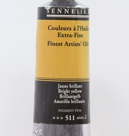 France Sennelier, Fine Artists' Oil Paint, Bright Yellow, 511, 40ml Tube, Series 2