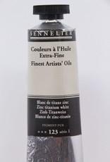 France Sennelier, Fine Artists' Oil Paint, Zinc Titanium White, 123, 40ml Tube, Series 1