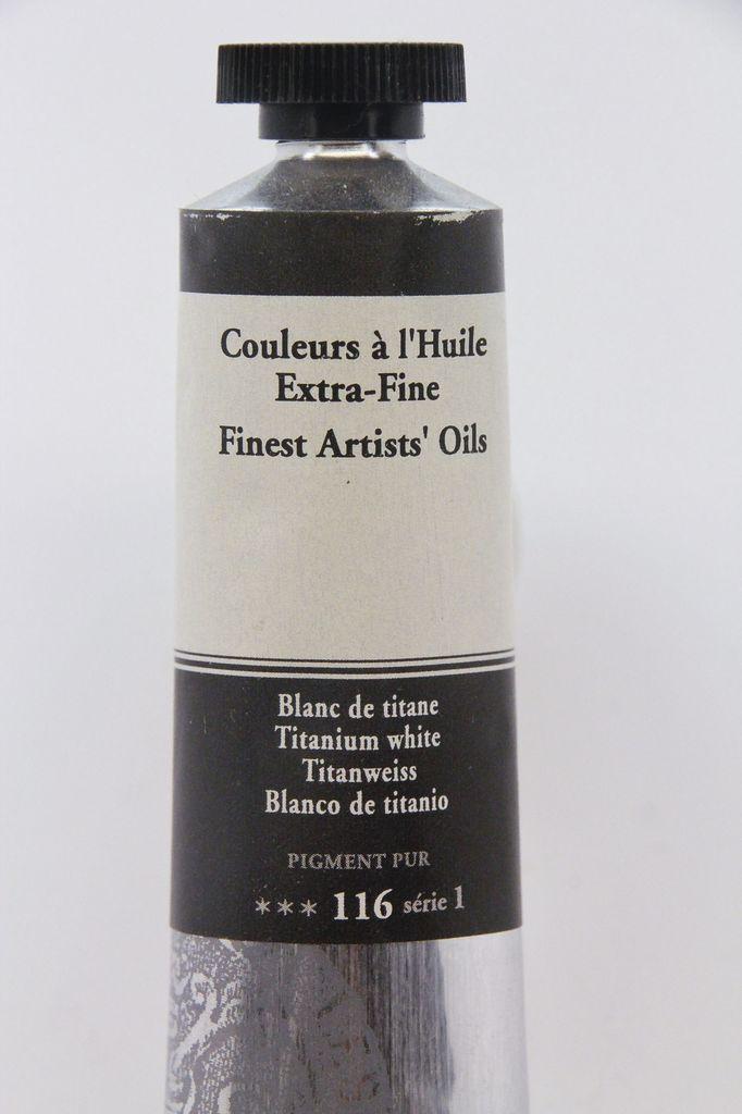 France Sennelier, Fine Artists' Oil Paint, Titanium White, 116, 40ml Tube, Series 1