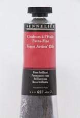 France Sennelier, Fine Artists' Oil Paint, Permanent Rose, 657, 40ml Tube, Series 2