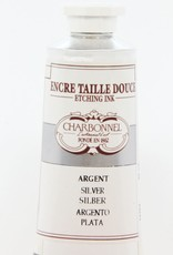 France Charbonnel, Etching Ink, Silver, Series 4, 60ml, Tube