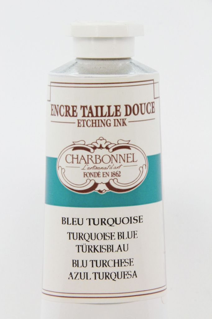 France Charbonnel, Etching Ink, Turquoise Blue, Series 2, 60ml, Tube