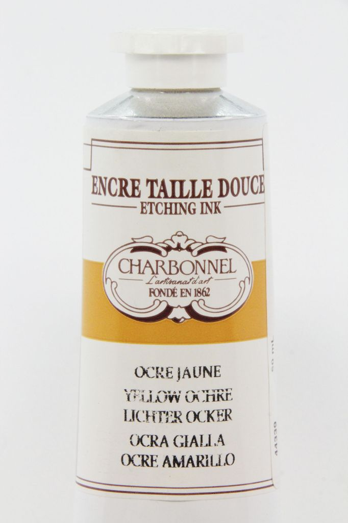 France Charbonnel, Etching Ink, Yellow Ochre, Series 1, 60ml, Tube