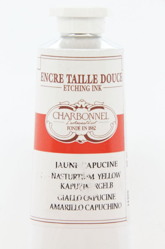France Charbonnel, Etching Ink, Nasturtium Yellow, Series 6, 60ml, Tube