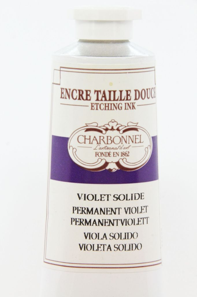 France Charbonnel, Etching Ink, Stable (Permanent) Violet, Series 6, 60ml, Tube