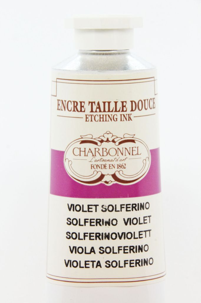 France Charbonnel, Etching Ink, Solferino Violet, Series 6, 60ml, Tube