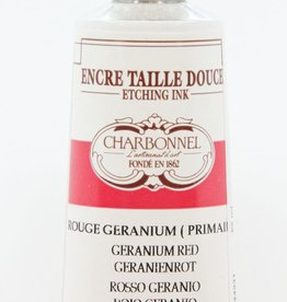 France Charbonnel, Etching Ink, Geranium Red, Series 4, 60ml, Tube