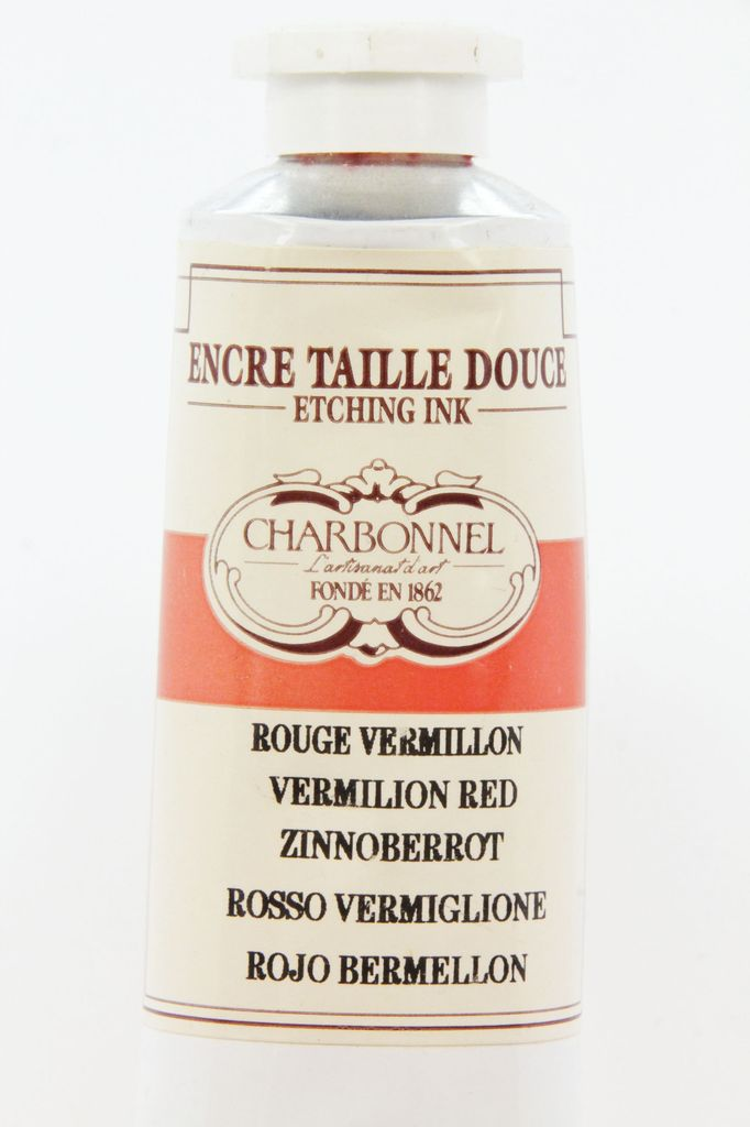 France Charbonnel, Etching Ink, Vermilion Red, Series 4, 60ml, Tube