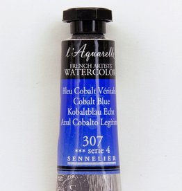 France Sennelier, Aquarelle Watercolor Paint, Cobalt Blue, 307,10ml Tube, Series 4
