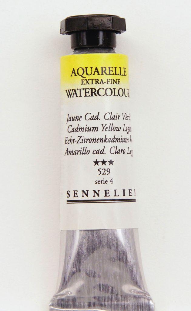 France Sennelier, Aquarelle Watercolor Paint, Cadmium Yellow Light, 529,10ml Tube, Series 4
