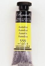 France Sennelier, Aquarelle Watercolor Paint, Aureoline, 559,10ml Tube, Series 4