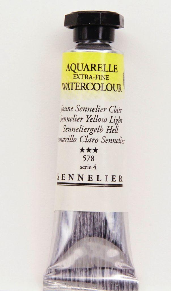 France Sennelier, Aquarelle Watercolor Paint, Yellow Light, 578,10ml Tube, Series 1