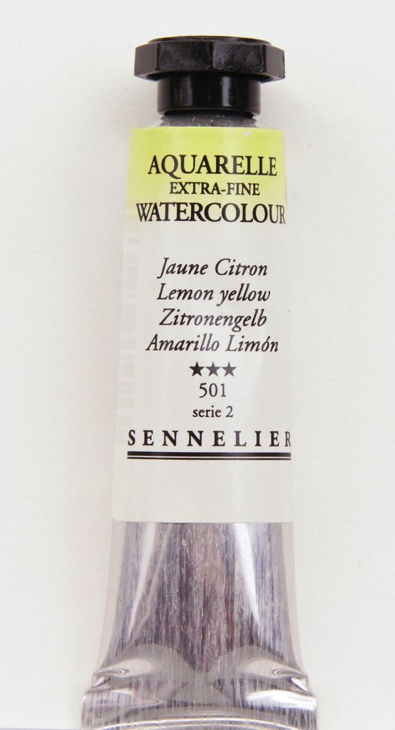 France Sennelier, Aquarelle Watercolor Paint, Lemon Yellow, 501,10ml Tube, Series 1