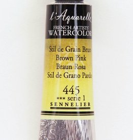 France Sennelier, Aquarelle Watercolor Paint, Brown Pink, 445,10ml Tube, Series 1