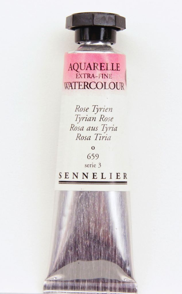France Sennelier, Aquarelle Watercolor Paint, Opera (Tyrian) Rose, 659,10ml Tube, Series 3