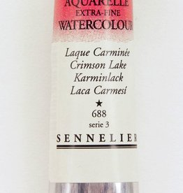 France Sennelier, Aquarelle Watercolor Paint, Crimson Lake, 688,10ml Tube, Series 3