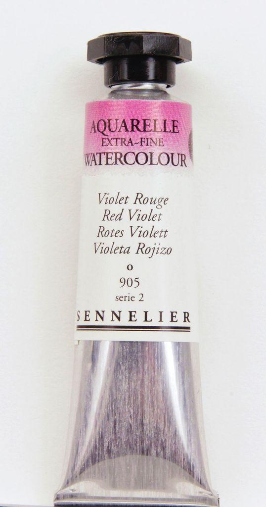 France Sennelier, Aquarelle Watercolor Paint, Red Violet, 905,10ml Tube, Series 2