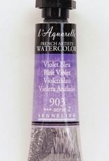 France Sennelier, Aquarelle Watercolor Paint, Blue Violet, 903,10ml Tube, Series 2
