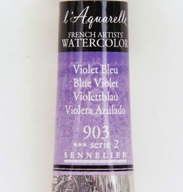 France Sennelier, Aquarelle Watercolor Paint, Blue Violet, 903,10ml Tube, Series 2