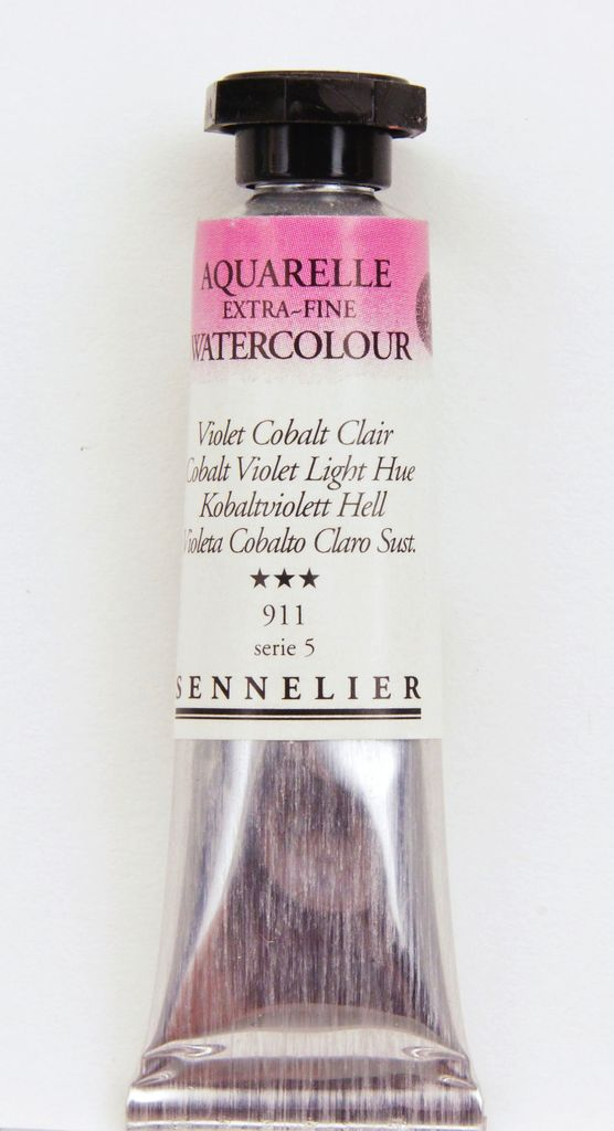 France Sennelier, Aquarelle Watercolor Paint, Cobalt Violet Light Hue, 911,10ml Tube, Series 5