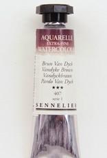 France Sennelier, Aquarelle Watercolor Paint, Vandyke Brown, 407,10ml Tube, Series 1