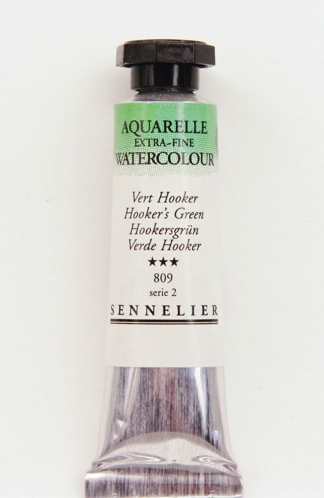 France Sennelier, Aquarelle Watercolor Paint, Hooker's Green, 809,10ml Tube, Series 2